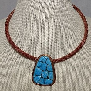 JAY KING necklace copper choker/turqouise 925